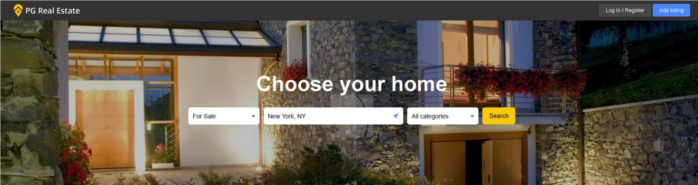 real-estate-main-page