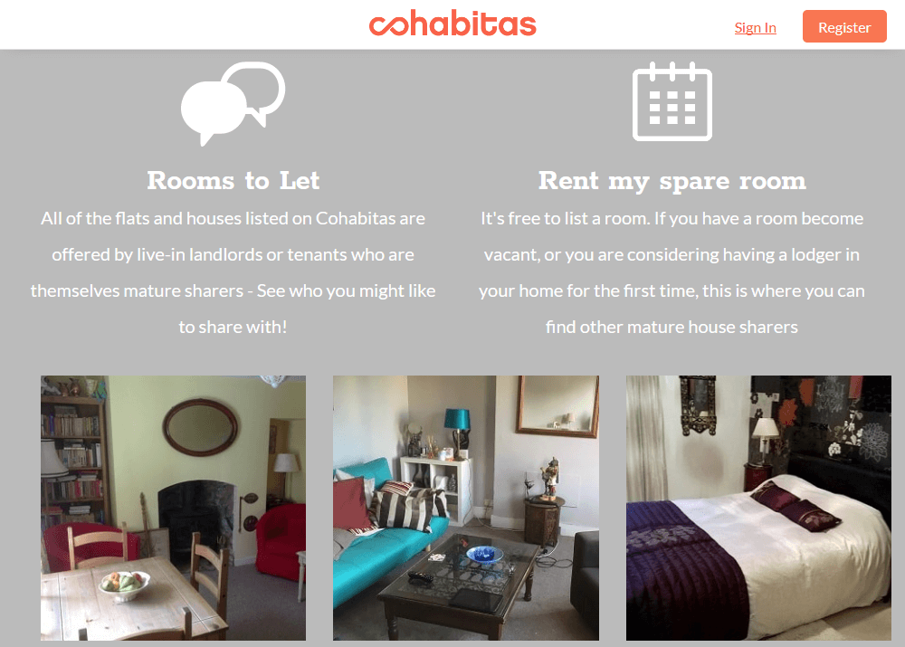Cohabitas: Letting and renting spare rooms